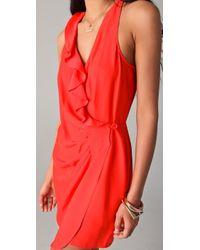Parker - Red Wrap Dress - Lyst