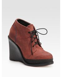 Rag & Bone | Black Odval Desert Suede Wedge Ankle Boots | Lyst