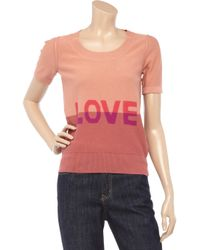 Sonia by Sonia Rykiel | Pink Love Knitted Cotton Sweater | Lyst