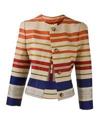 Stella McCartney | Multicolor Striped Sateen Jacket | Lyst