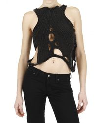 Trosman - Black Beaded Top - Lyst