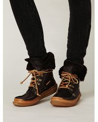 Free People | Brown Medford Lace-up Boot | Lyst