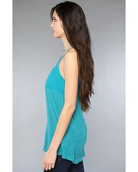 Free People - Blue The Anas Tank in Peacock - Lyst