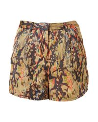 TOPSHOP - Multicolor Bright Marble High Waist Shorts - Lyst