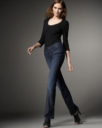 7 For All Mankind | Blue Mid-rise Straight-leg Jeans | Lyst