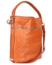 Lancel - Brown Dali Gala Leather Shoulder Bag - Lyst