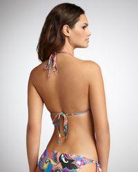 Etro | Purple Paisley-print String Bikini | Lyst