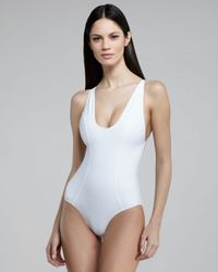 Lisa Marie Fernandez | White Garance Back-zip One-piece Swimsuit | Lyst