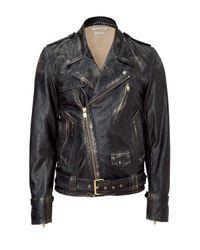 Marc Jacobs | Black Distressed Moto Jacket for Men | Lyst