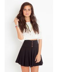 Nasty Gal - Black Stanford Pleated Skirt - Lyst
