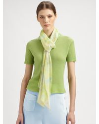 Ralph Lauren Collection | Yellow Silk Georgette Scarf | Lyst