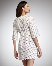 Tory Burch | White Eyelet Coverup | Lyst