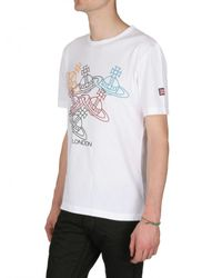 Vivienne Westwood | White Olympic Orb T-shirt for Men | Lyst
