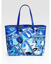 Emilio Pucci | Blue Beach Bag | Lyst