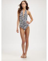Emilio Pucci - Multicolor One-piece Zebra-print Swimsuit - Lyst