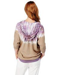 Splendid - Purple Kaleidoscope Hoodie - Lyst