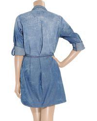 Current/Elliott - Blue Sarah Shirt Dress - Colony - Lyst