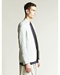 Damir Doma | Gray Mens Jemo Collarless Jacket for Men | Lyst