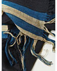 Dries Van Noten | Blue Mens Sheer Silk Artisan Scarf for Men | Lyst