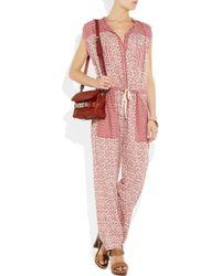 Étoile Isabel Marant | Red Heko Printed Cotton-voile Jumpsuit | Lyst