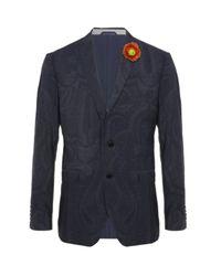 Etro | Blue Paisley Tuxedo Jacket for Men | Lyst
