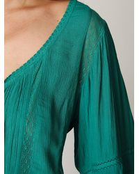 Free People   Green Victorian Inset Tunic   Lyst