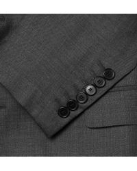Givenchy - Gray Notch Lapel Speckled Wool Suit for Men - Lyst