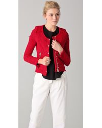 IRO | Red Agnette Jacket | Lyst