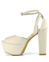 Jeffrey Campbell | Natural Perfect2 - Beige Suede Platform Mary-jane | Lyst