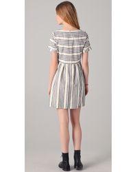 Madewell | Blue Striped Avalon Dress | Lyst