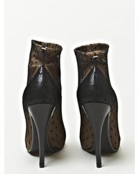 Maison Margiela | Brown Defile Leather and Lace Arched Sole Boots | Lyst