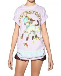 Meadham Kirchhoff | Black Riot Not Diet Printed Cotton T-Shirt | Lyst