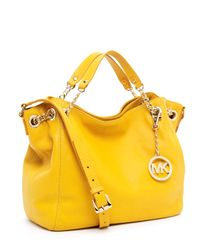 Michael Kors | Yellow Jet Set Chain Medium Gather Shoulder Tote | Lyst