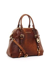 Michael Kors - Brown Large Bedford Bowling Satchel - Lyst