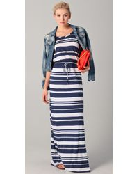 Splendid | Blue Maritime Stripe Maxi Dress | Lyst