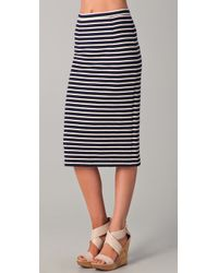 Tibi | Blue Horatio Striped Pencil Skirt | Lyst
