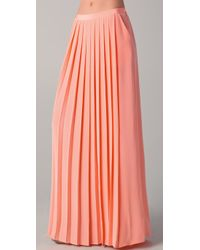 Tibi | Pink Maxi Pleated Skirt | Lyst