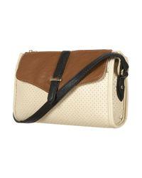TOPSHOP | Brown Tan Perforated Crossbody Bag | Lyst