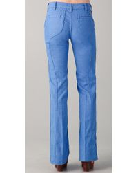 Tory Burch - Blue Leigh Flare Jeans - Lyst