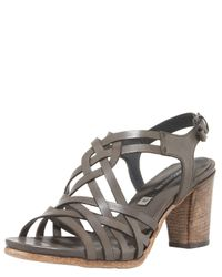 Alberto Fermani | Gray Strappy Midheel Sandal | Lyst