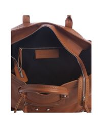 Balenciaga | Brown Whiskey Lambskin Velo Large Bag | Lyst