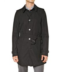 43a7966f5a9e Lyst - Burberry Single Breasted Cotton Trench Coat in Black for Men