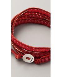 Chan Luu - Red Beaded Wrap Bracelet - Lyst