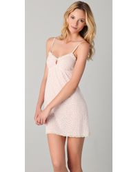 Eberjey | Pink Cats Meow Chemise | Lyst