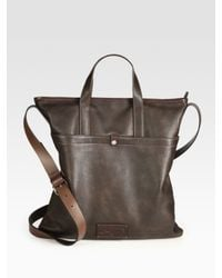 Ferragamo - Brown Leather Tote Bag for Men - Lyst