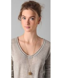 House of Harlow 1960 - Metallic Crater Locket Necklace - Lyst