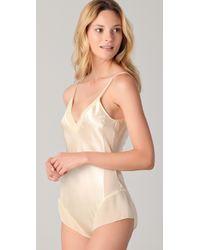 La Fee Verte - Natural Silk Bodysuit - Lyst