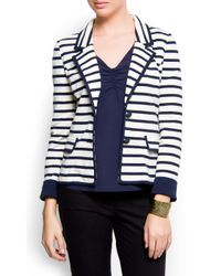 Mango | Blue Cotton Sailor Blazer | Lyst