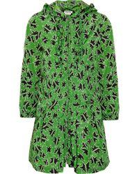 Miu Miu | Green Star-print Raincoat | Lyst