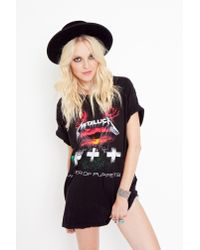 Nasty Gal - Black Metallica Master Of Puppets Tee - Lyst